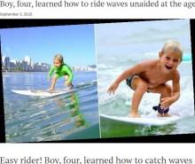 【海外発!Breaking News】2歳でサーフボードの上に1人で立つ、4歳のサーファー男児がキマり過ぎている!(ブラジル)<動画あり>