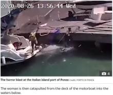 【海外発!Breaking News】モーターボートへ給油直後に大爆発 女性が吹き飛ばされるも無傷(伊)<動画あり>