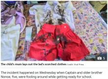 【海外発!Breaking News】消毒ジェルで遊んでいた3歳児 ライターの火をつけた瞬間炎に包まれる(タイ)
