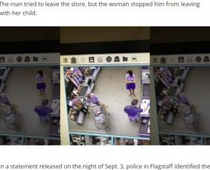 【海外発!Breaking News】母親が会計中に赤ちゃんを誘拐しようとした男、一部始終が監視カメラに(米)<動画あり>