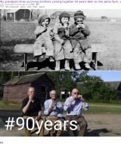 【海外発!Breaking News】昔の写真を再現してみた! 90年後から28年後まで、それぞれの人生の変化にホッコリ