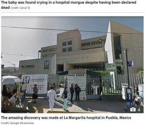 【海外発!Breaking News】死産の新生児、6時間後に遺体安置所で泣き声あげる 医師の誤診か(メキシコ)<動画あり>
