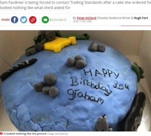 【海外発!Breaking News】これが6800円!? 魚釣りをテーマにした誕生日ケーキがまるで子供の粘土作品(英)