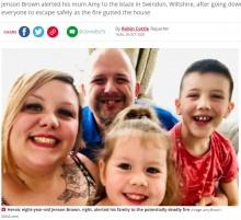 【海外発!Breaking News】早朝に火災発生も「テレビ番組が見たかった」8歳男児が早起きしたおかげで一家は無事避難(英)