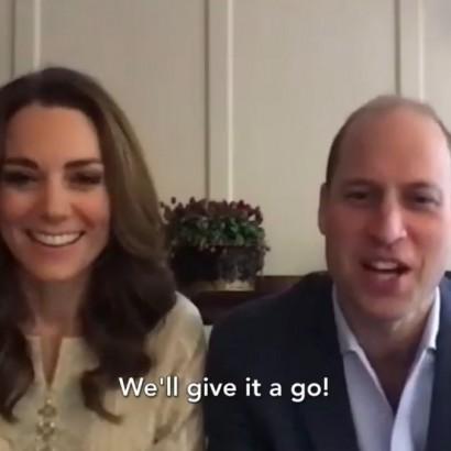 【イタすぎるセレブ達】ウィリアム王子&キャサリン妃、パキスタンの学生達とビデオ通話で交流「キャサリンは絵が上手、僕は凄く下手」