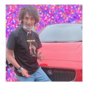 「過去56台乗ってきたけどjaguar は初めて楽しみだ!!」と本並健治氏(画像は『本並健治 2020年9月22日付Instagram「まいど! 家族車。」』のスクリーンショット)