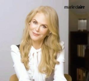 ようやく共演できたヒュー・グラントとビデオ通話を行ったニコール(画像は『Marie Claire 2020年10月13日付Instagram「Hollywood treasures Nicole Kidman and Hugh Grant, the stars of @hbo's 'The Undoing,'」』のスクリーンショット)