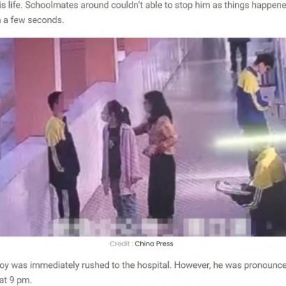 【海外発!Breaking News】「あなたがくれた命を返すよ」14歳中学生が飛び降り自殺、叱りつけた母親への腹いせか(中国)