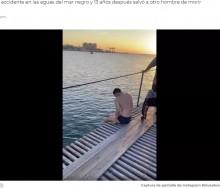 【海外発!Breaking News】「彼こそ鉄人」海の事故で下半身麻痺になった男性 13年後同じ場所で溺れた男性を救う(露)<動画あり>