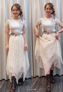 ソニン、デビュー20周年記念ライブでの衣装 前半はガーリーに(画像は『Sonim・ソニン・선임 2020年10月19日付Instagram「昨日 デビューして丸20年の日でした。」』のスクリーンショット)
