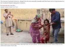 【海外発!Breaking News】トイレに1年半、夫に監禁されていた妻が救助される(印)<動画あり>