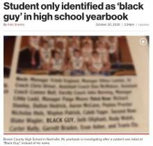 【海外発!Breaking News】高校の年鑑アルバムで黒人生徒の名前が無く「黒人の男」と記載 保護者から非難の声(米)