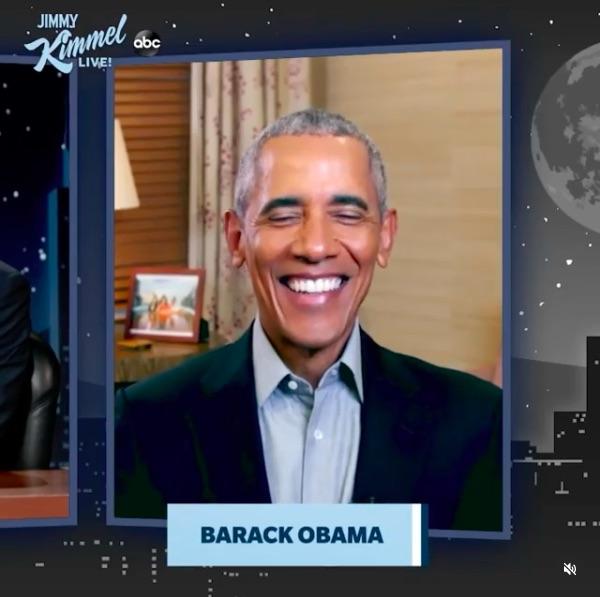 一家の面白エピソードを披露したバラク・オバマ氏(画像は『Jimmy Kimmel Live 2020年11月19日付Instagram「@BarackObama reveals all tonight on Kimmel!」』のスクリーンショット)