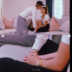 相変わらず仲が良いジャスティン&ヘイリー(画像は『Justin Bieber 2020年11月22日付Instagram「My eyes are 4 you.」』のスクリーンショット)
