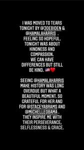 バイデン&ハリス氏の姿に「涙した」とセレーナ(画像は『Selena Gomez 2020年11月7日付Instagram』のスクリーンショット)