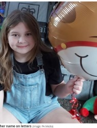 【海外発!Breaking News】2歳から白血病と闘う10歳の女の子 誕生日に配送車1台分の大量の手紙を受け取る(英)<動画あり>