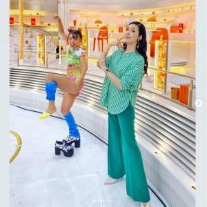 『グッとラック!』で共演中のフワちゃんとアンミカ(画像は『アンミカ 2020年11月2日付Instagram「先週の、いくつかの華やかな衣装を紹介」』のスクリーンショット)