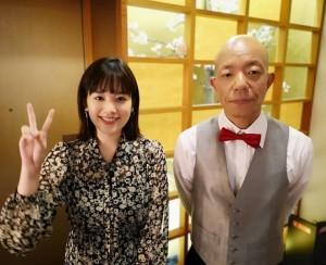 筧美和子と小峠英二(画像は『有田ジェネレーション公式Instagram 2018年11月6日付Instagram「明日は…大江戸温泉物語」』のスクリーンショット)
