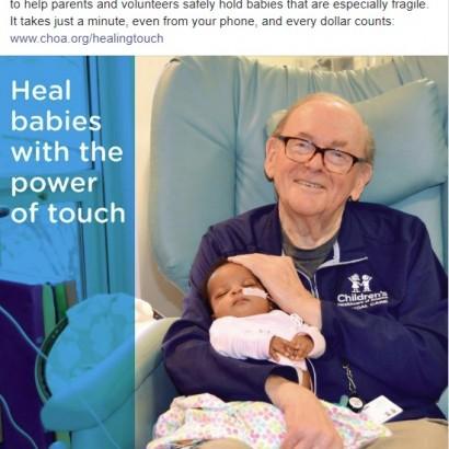 """【海外発!Breaking News】赤ちゃんを癒し続けて14年、""""ICUグランパ""""86歳で逝去「人生は豊かで充実していた」(米)"""
