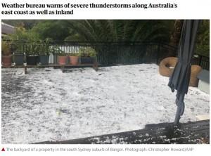 【海外発!Breaking News】テニスボールサイズの雹(ひょう)が降りかかる 「命を脅かすこれまでにない暴風雨」と緊急速報も(豪)