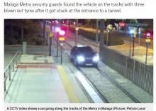 【海外発!Breaking News】車で線路を1.6キロ爆走 運転手から基準値3倍のアルコールを検出(スペイン)<動画あり>