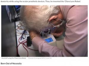 【海外発!Breaking News】コンタクトレンズの自動脱着ロボットが開発される 実用化に向け来年には認証取得へ(米)<動画あり>