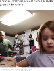 【海外発!Breaking News】学校に提出する動画とは知らずに、娘の背後で父が踊りまくる 再生回数1300万回超の大爆笑(米)<動画あり>
