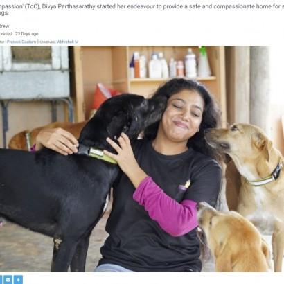 【海外発!Breaking News】「安楽死寸前の動物に第二の人生を」保護に尽力する女性と必死に生きる動物の姿が胸を打つ(印)<動画あり>