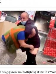 【海外発!Breaking News】深夜のコンビニで男性客2人が珍乱闘 店側「もう二度と来ないでくれ」(米)<動画あり>