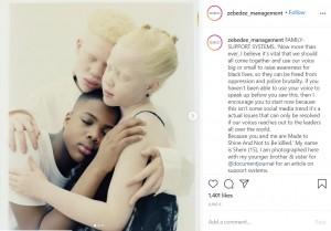 美しさが際立つ3きょうだい(画像は『Zebedee Management 2020年6月8日付Instagram「FAMILY- SUPPORT SYSTEMS.」』のスクリーンショット)