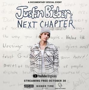およそ30分のドキュメンタリー動画を公開したジャスティン(画像は『Justin Bieber 2020年10月29日付Instagram「Tomorrow #JBNextChapter @youtube」』のスクリーンショット)
