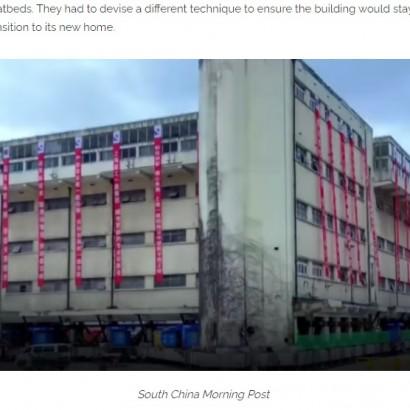 【海外発!Breaking News】7600トンの5階建て小学校、198個のロボットの足を取り付けて大移動(中国)<動画あり>
