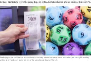 【海外発!Breaking News】間違いがもたらした「最高の幸運!」知らずに2枚購入した宝くじで約1億6千万円の当選(豪)