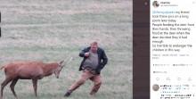 【海外発!Breaking News】野生の鹿に近づき襲われそうに 観光客のマナー違反に「恐ろしい」と非難の声(英)