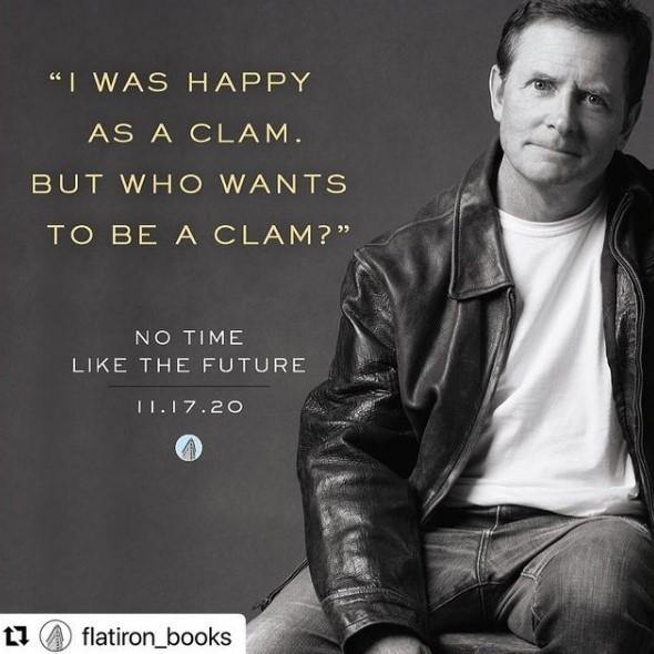 17日に発売されたマイケル4作目の自叙伝(画像は『Michael J Fox 2020年10月16日付Instagram「No Time Like The Future arrives 11.17. Preorder anytime」』のスクリーンショット)