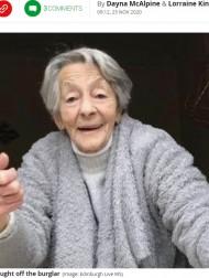 【海外発!Breaking News】89歳のおばあちゃんが泥棒に立ち向かう「高齢者の家に盗みに入る愚か者め!」(スコットランド)