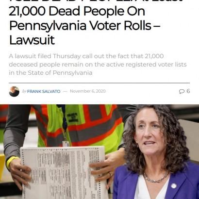 【海外発!Breaking News】死者が投票? 米大統領選の有権者名簿に2万1000人の死亡者の名前があると民間団体が提訴(米)