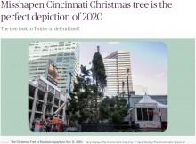 【海外発!Breaking News】広場に設置された残念すぎるクリスマスツリーに「2020年を象徴しているよう」(米)