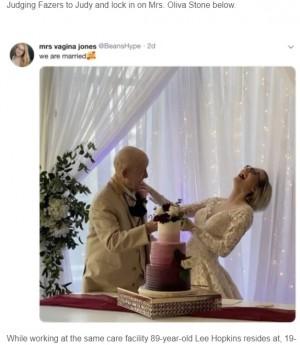 【海外発!Breaking News】89歳の認知症男性と結婚した19歳女性 「彼の遺産を独り占めするの」(米)