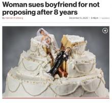 【海外発!Breaking News】「時間を無駄にした」8年間プロポーズが無く、交際相手を訴えた女性(ザンビア)