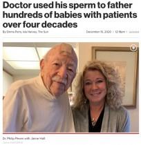 【海外発!Breaking News】40年以上も不妊治療の患者に精子を提供した104歳の元医師、遺伝子を受け継ぐ子供は数百人か(米)