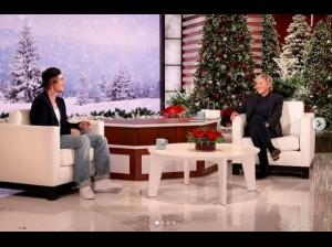 司会のエレン・デジェネレスとトークを楽しむジャスティン(画像は『Justin Bieber 2020年12月1日付Instagram「Always adore my time with you @theellenshow」』のスクリーンショット)