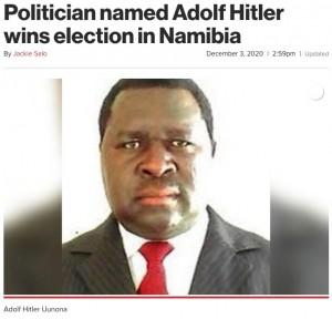 【海外発!Breaking News】選挙で勝利したアドルフ・ヒトラーさん「世界征服の計画はない」と主張(ナミビア)