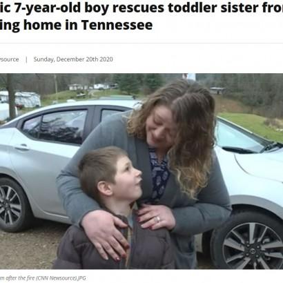 【海外発!Breaking News】炎に包まれた部屋に飛び込み1歳の妹を救出した7歳男児「妹が死ぬなんて嫌だった」(米)