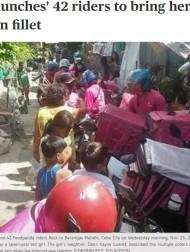 【海外発!Breaking News】7歳少女が誤ってフードデリバリーを大量注文 42人分のチキンを持ったバイク便の群れが家に押しかける(フィリピン)<動画あり>