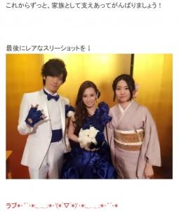 2016年に行われた披露宴で(画像は『影木栄貴 2016年5月25日付オフィシャルブログ「挙式&結婚披露宴。」』のスクリーンショット)
