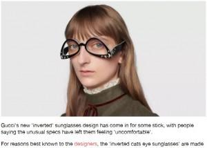 【海外発!Breaking News】Gucciの前衛的すぎるサングラスに戸惑う声「違和感しかない」(伊)