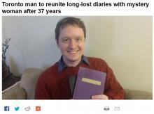 【海外発!Breaking News】「読まないで」と書かれた古い日記帳が見つかる 37年越しに持ち主の元へ(米)