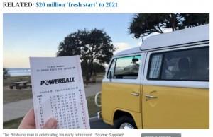 一夜にして大学生の人生は一変した(画像は『news.com.au 2020年12月18日付「Powerball: Brisbane uni student in his 20s wins $20 million lottery prize, Powerball numbers」(Source:Supplied)』のスクリーンショット)