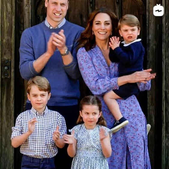 今年4月のウィリアム王子一家(画像は『Kensington Palace 2020年4月23日付Instagram「The Big Night In   Clap for Our Carers」』のスクリーンショット)